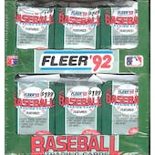 1992 Fleer Baseball Jumbo Box (Reed Buy)