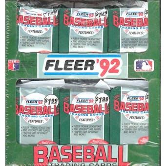 1992 Fleer Baseball Jumbo Box