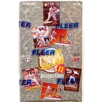 1992 Fleer Ultra Series 2 Baseball Hobby Box