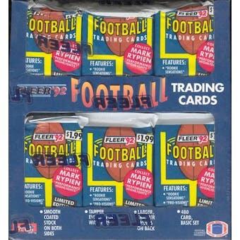1992 Fleer Football Jumbo Box