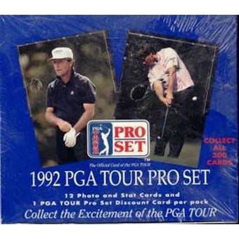 1992 Pro Set Golf Wax Box