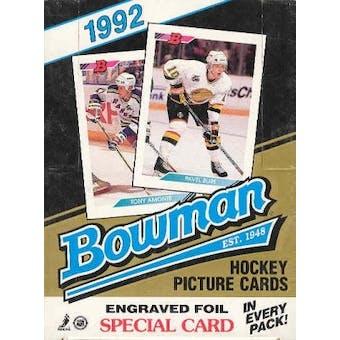 1992/93 Bowman Hockey Wax Box