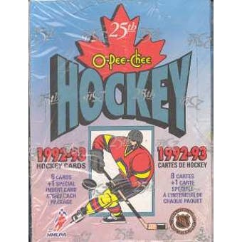 1992/93 O-Pee-Chee Hockey Hobby Box