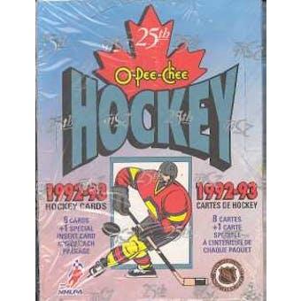 1992/93 O-Pee-Chee Hockey Hobby Box
