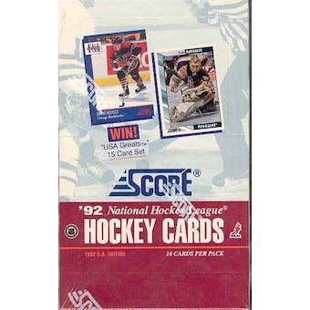 1992/93 Score Hockey Wax Box