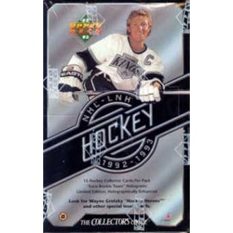 1992/93 Upper Deck Series 1 Hockey Hobby Box