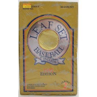 1992 Leaf Series 2 Baseball Wax Box (Reed Buy)