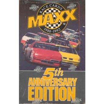 1992 J.R. Maxx Inc. Maxx 5th Anniversary Edition Racing Hobby Box - Red Box