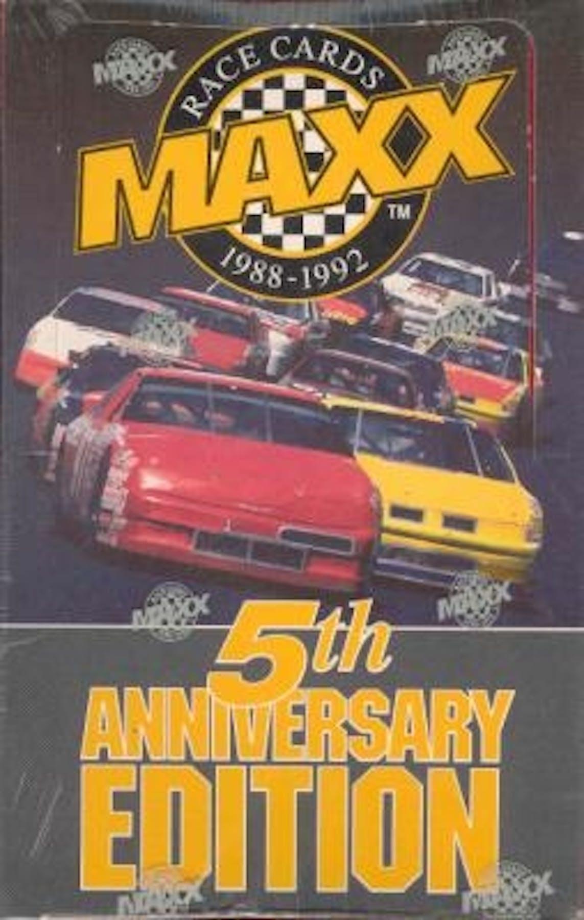 1992 J.R. Maxx Inc. Maxx 5th Anniversary Edition Racing Hobby Box ...