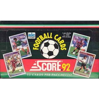 1992 Score Italian Soccer Hobby Box