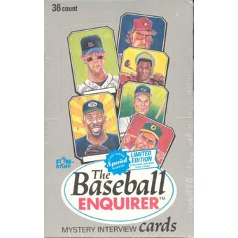 1992 The Baseball Enquirer Baseball Wax Box