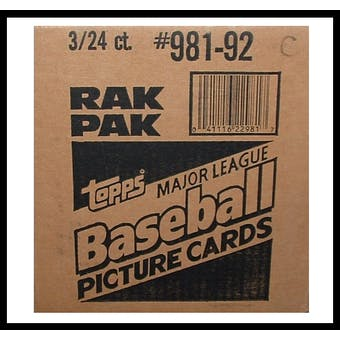 1992 Topps Baseball Rack 3-Box Case