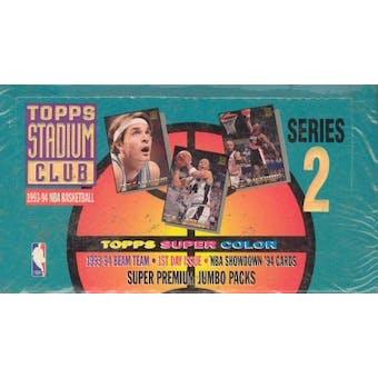1993/94 Topps Stadium Club Series 2 Basketball Jumbo Box