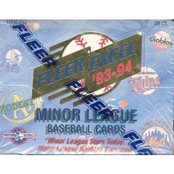 1993/94 Fleer Excel Minor League Baseball Jumbo Box