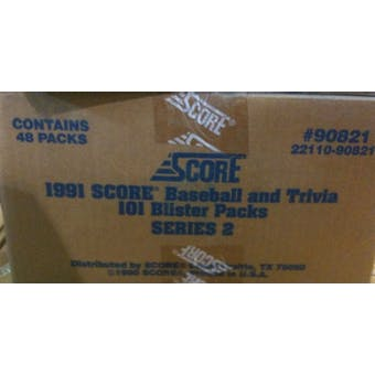 1991 Score Baseball Series 2 Blister 48 Pack Case