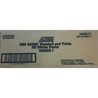 1991 Score Baseball Series 1 Blister 48 Pack Case