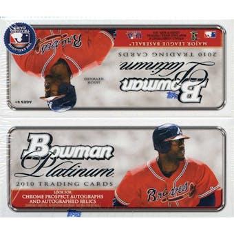 2010 Bowman Platinum Baseball 24-Pack Box