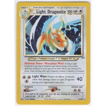 Pokemon Neo Destiny Single Light Dragonite 14/105