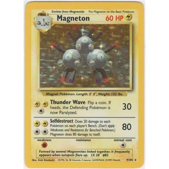 Pokemon Base Set 1 Single Magneton 9/102
