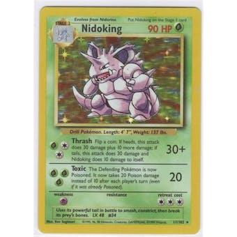 Pokemon Base Set 1 Single Nidoking 11/102 - SLIGHT PLAY (SP)