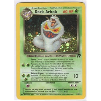 Pokemon Team Rocket Single Dark Arbok 2/82 - Error (1999-23000)