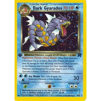 Pokemon Team Rocket 1st Edition Single Dark Gyarados 8/82