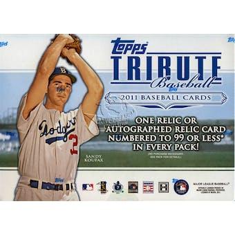 2011 Topps Tribute Baseball Hobby Box