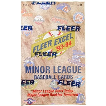 1993/94 Fleer Excel Minor League Baseball Hobby Box