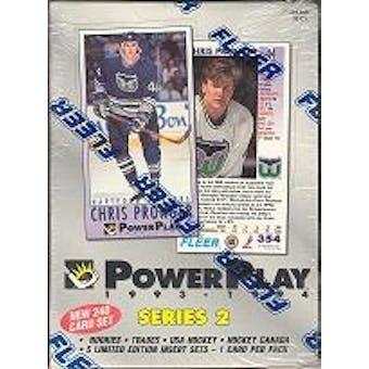 1993/94 Fleer Power Play Series 2 Hockey Hobby Box