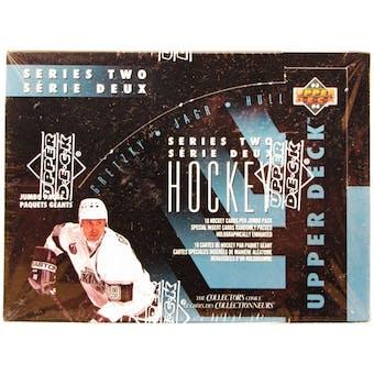 1993/94 Upper Deck Series 2 Hockey French/English Jumbo Box