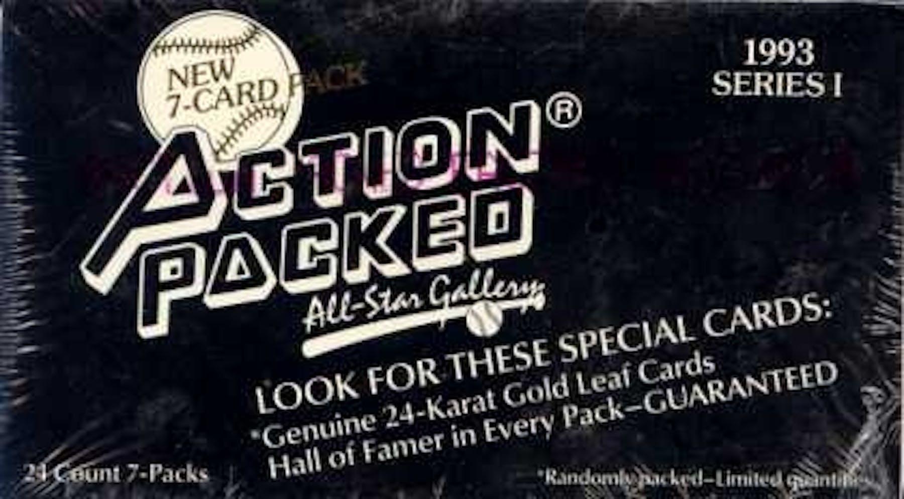 1993 Action Packed All Star Gallery Series 1 Baseball Wax Box Da