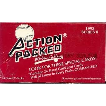 1993 Action Packed All-Star Gallery Series 2 Baseball Wax Box