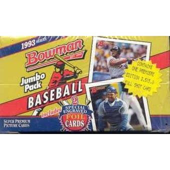 1993 Bowman Baseball Jumbo Box