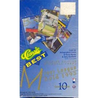 1993 Classic Best Minor League Gold Baseball Hobby Box
