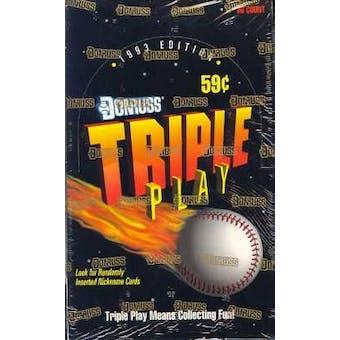 1993 Donruss Triple Play Baseball Hobby Box