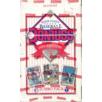 1993 Donruss Series 2 Baseball Jumbo Box