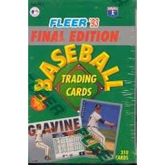 1993 Fleer Final Edition Baseball Factory Set
