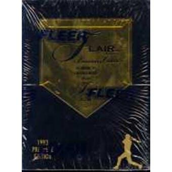 1993 Fleer/Flair Baseball Hobby Box