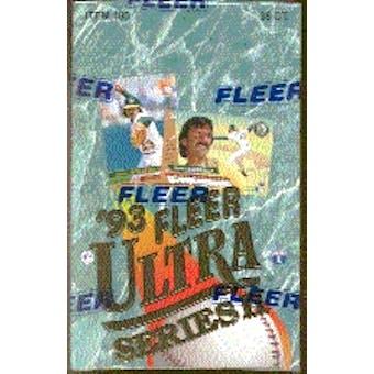 1993 Fleer Ultra Series 2 Baseball Hobby Box