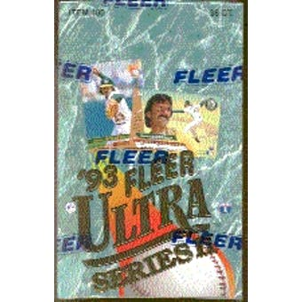 1993 Fleer Ultra Series 2 Baseball Hobby Box