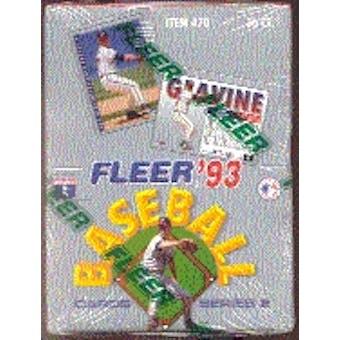 1993 Fleer Series 2 Baseball Hobby Box