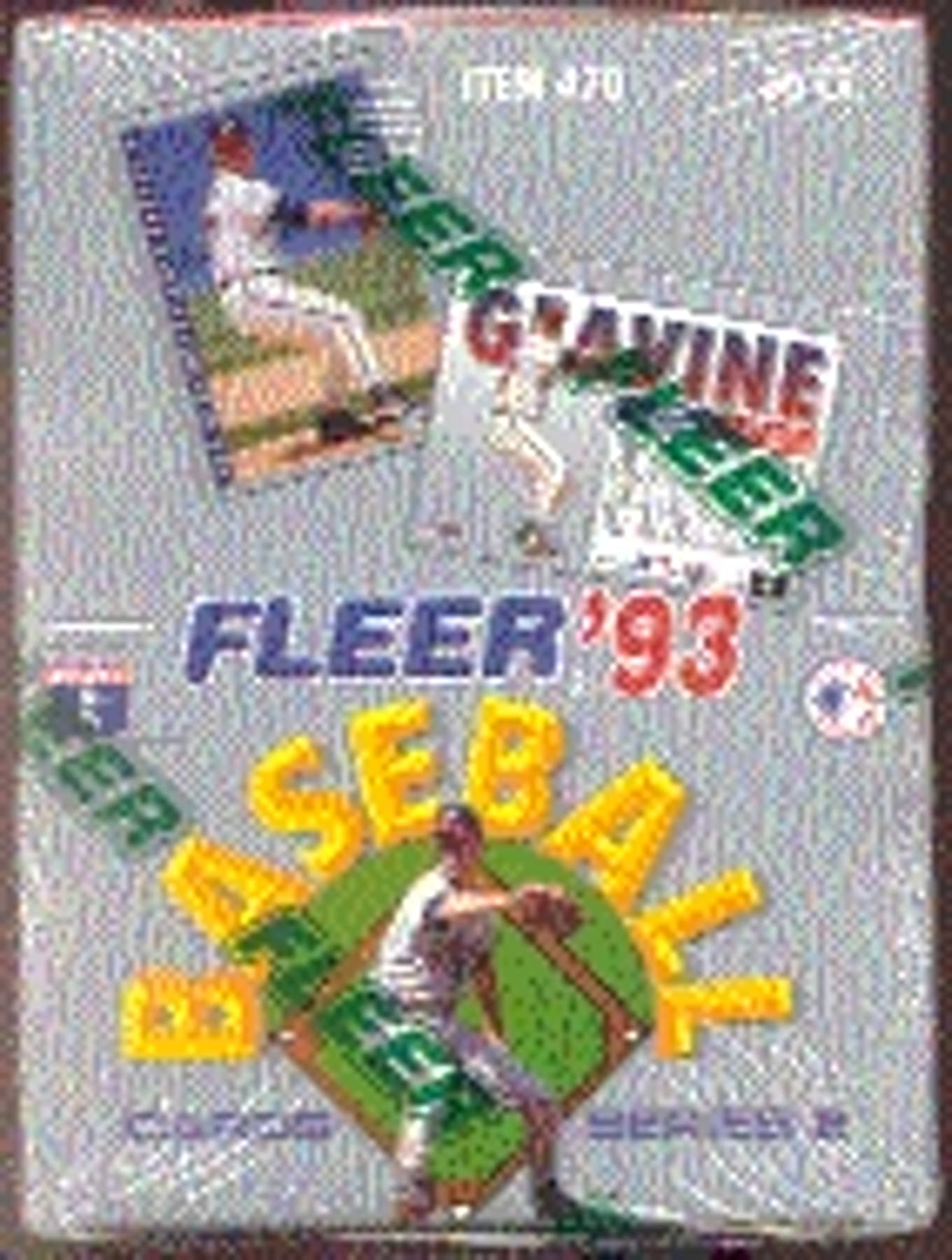 1993 Fleer Series 2 Baseball Hobby Box Da Card World