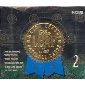 1993 Leaf Series 2 Baseball Jumbo Box