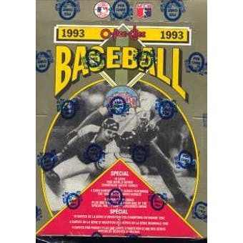 1993 O-Pee-Chee Baseball Hobby Box