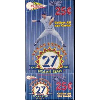 1993 Pacific Nolan Ryan Baseball Hobby Box