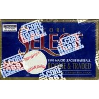 1993 Score Select Rookie & Traded Baseball Hobby Box