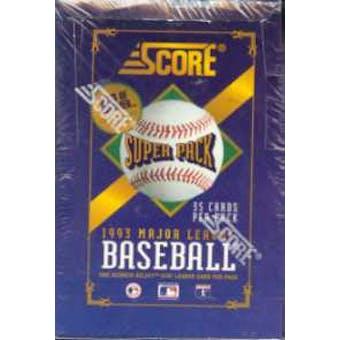 1993 Score Super Pack Baseball Jumbo Box