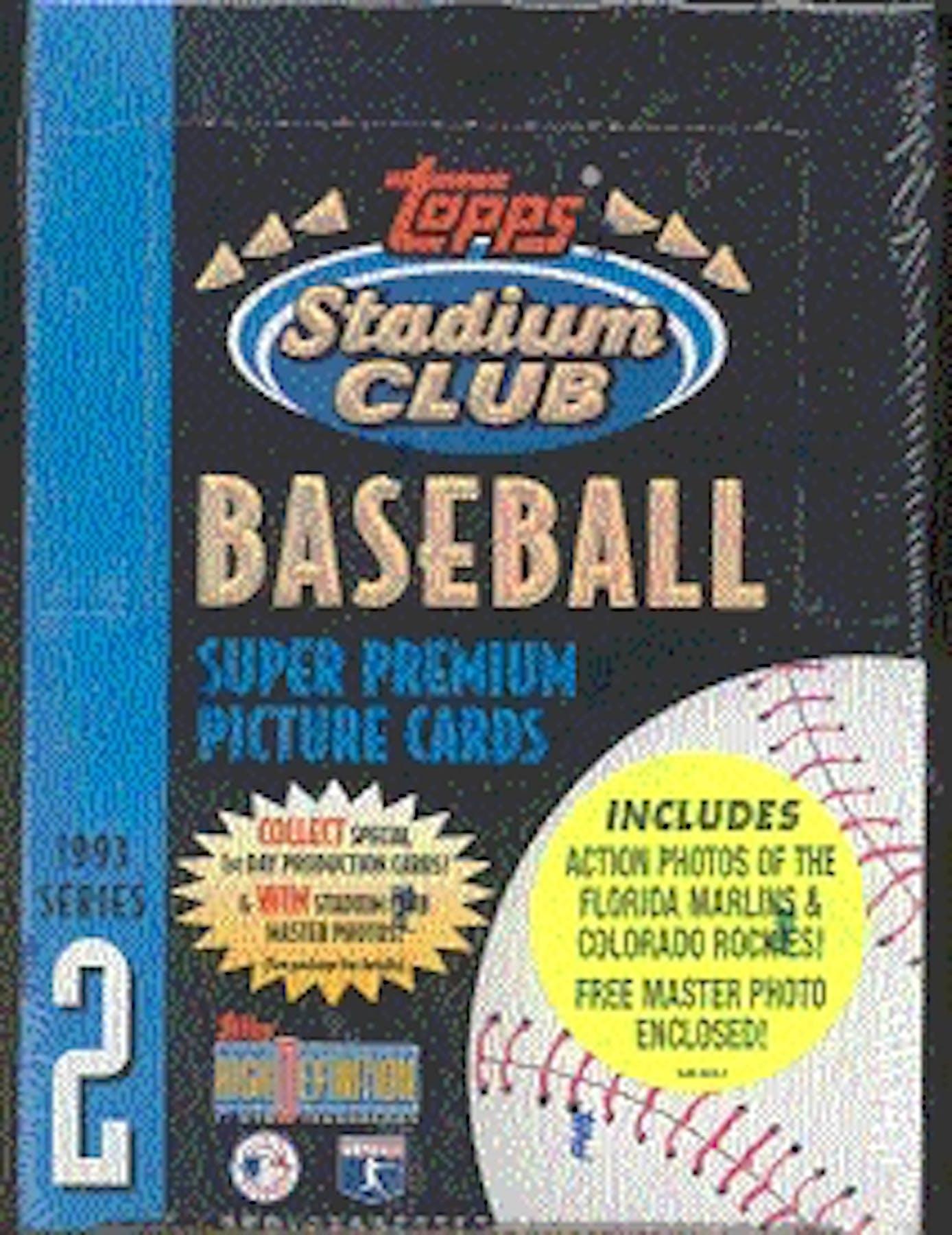 1993 Topps Stadium Club Series 2 Baseball Hobby Box Da