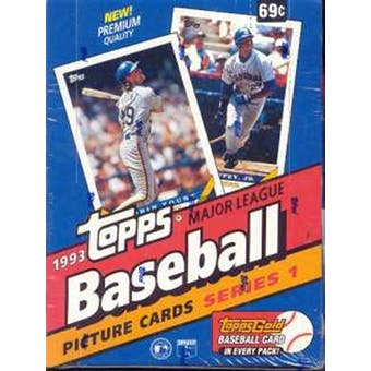1993 Topps Series 1 Baseball Hobby Box (Reed Buy)