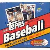1993 Topps Series 1 Baseball Jumbo Box (Reed Buy)